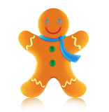 Gingerbread man cookie. Vector illustration of classic christmas gingerbread man cookie royalty free illustration