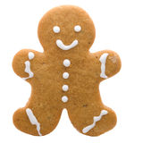 Gingerbread man cookie. Isolated Gingerbread Cookie, Holiday Related Object royalty free stock photography
