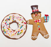 Gingerbread man and cookie Stock Photography
