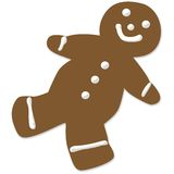 Gingerbread man cookie. With white icing. If you are interested see also Snowflake cookie illustration stock illustration