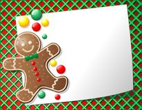 Gingerbread Man Cookie Background. Cute Gingerbread Men Cookie Background Royalty Free Stock Image