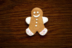 Gingerbread man cookie background Stock Photography