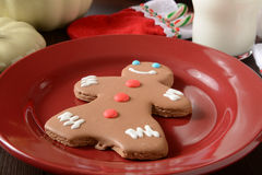 Gingerbread man cookie Stock Image