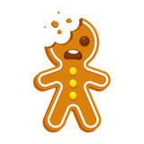 Gingerbread man cookie royalty free illustration