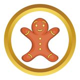 Gingerbread man cookie icon. Gingerbread man cookie in cartoon style isolated on white background illustration stock illustration