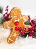 Gingerbread Man Cookie Stock Photos