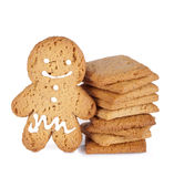 Gingerbread man cookie Royalty Free Stock Images