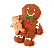 Gingerbread man cookies Royalty Free Stock Images