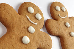 Gingerbread man cookies Stock Images