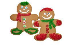 Gingerbread Man Cookies Stock Photo