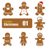 Gingerbread man cookies, biscuit,. Illustration Stock Images