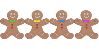 Gingerbread man, cookies. 3D rendering. On white background Royalty Free Stock Photo