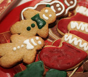 Gingerbread man and cookies. Holiday Royalty Free Stock Photo