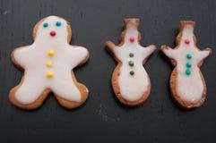 Gingerbread Man Cookies Stock Photo