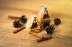 Gingerbread man, cookies, star anise Royalty Free Stock Images