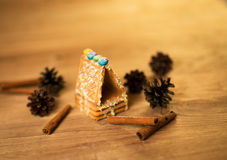 Gingerbread man, cookies, star anise, cinnamon Royalty Free Stock Photography