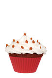 Gingerbread man cupcake Stock Image