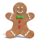 Gingerbread Man. 3d illustration of a Gingerbread Man Stock Photography