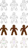 Gingerbread Man. In different styles Royalty Free Stock Photography