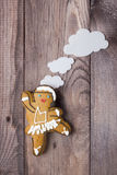 Gingerbread man in the form of a dancer Stock Photography