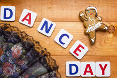 Gingerbread man in the form of a dancer Royalty Free Stock Images