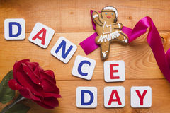 Gingerbread man in the form of a dancer Royalty Free Stock Photo