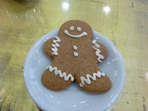 Gingerbread man. Funny gingerbread man in a plate Royalty Free Stock Photos