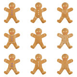 Gingerbread man holiday cookie set. Christmas sweet food Vector illustration. Eps10 royalty free illustration