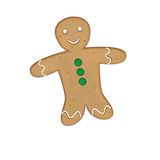 Gingerbread man. Holiday cookie in shape of man Royalty Free Stock Image