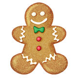 Gingerbread man. Holiday sweet cookie. Vector  illustration Royalty Free Stock Photography