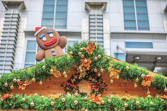 gingerbread man on the housetop Royalty Free Stock Photos