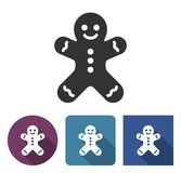 Gingerbread man icon stock illustration