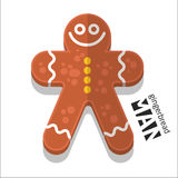 Gingerbread man icon. Vector set Gingerbread man icon royalty free illustration