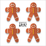 Gingerbread man icon. Vector set Gingerbread man icon vector illustration
