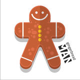 Gingerbread man icon. Vector set Gingerbread man icon stock illustration