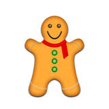 Gingerbread man. Illustration on a white background Royalty Free Stock Photo