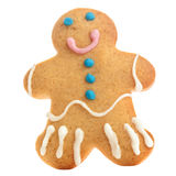 Gingerbread man isolated over white background. Holiday Christma Royalty Free Stock Images