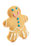 Gingerbread man isolated over white background. Holiday Christma Royalty Free Stock Photo