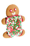 Gingerbread man isolated on white Royalty Free Stock Images