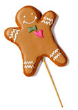Gingerbread man isolated on a white Royalty Free Stock Photos