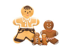 Gingerbread man isolated Royalty Free Stock Image
