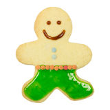 Gingerbread man isolated Royalty Free Stock Images