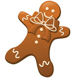 Gingerbread man isolated on white Royalty Free Stock Photo