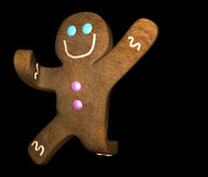 Gingerbread man leaping Royalty Free Stock Photos