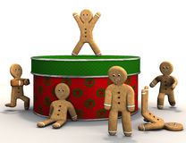 Gingerbread Men are happy. Stock Photography
