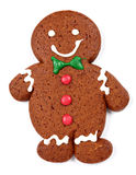 Gingerbread man over white background Stock Photography