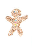Gingerbread man paited Stock Photography