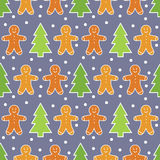 Gingerbread man pattern Royalty Free Stock Photography
