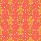 Gingerbread man pattern. Gingerbread man seamless pattern. Vector illustration royalty free illustration