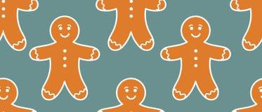 Gingerbread man pattern. Vector illustration royalty free illustration